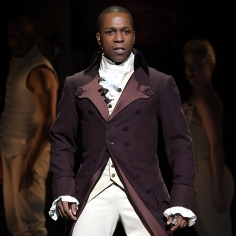 "NEW YORK, NY - FEBRUARY 15: Actor Leslie Odom, Jr. performs on stage during ""Hamilton"" GRAMMY performance for The 58th GRAMMY Awards at Richard Rodgers Theater on February 15, 2016 in New York City. (Photo by Theo Wargo/WireImage)"