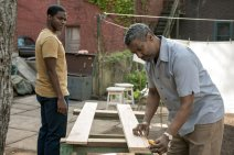 Fences (2016) Jovan Adepo as Cory and Denzel Washington as Troy