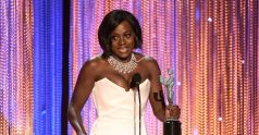 Viola Davis receiving the award for Outstanding Performance by a Female Actor in a Supporting Role