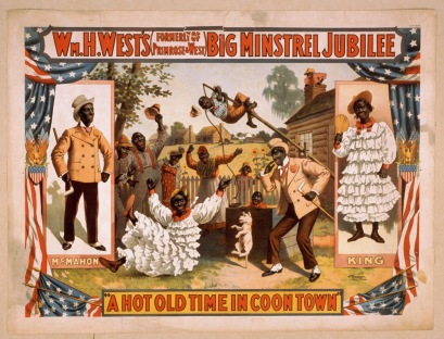 Poster for a Minstrel Show.